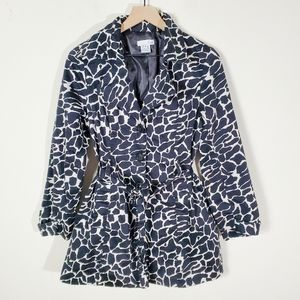 Luii Spring Animal Print Pea Coat Medium